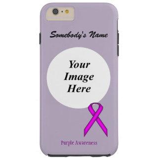 Capas iPhone 6 Plus Tough Fita padrão roxa Tmpl por Kenneth Yoncich