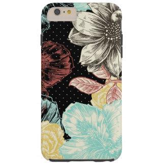 Capas iPhone 6 Plus Tough Floral gravado corajoso