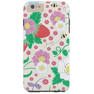 Capas iPhone 6 Plus Tough Flores, morangos, e abelhas