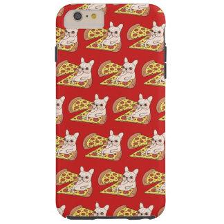 Capas iPhone 6 Plus Tough Frenchie de creme convida-o a seu partido da pizza