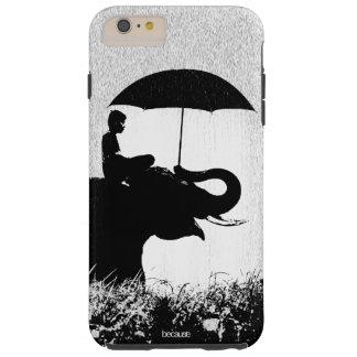 Capas iPhone 6 Plus Tough iPhone 6/6s da arte da chuva do elefante mais o