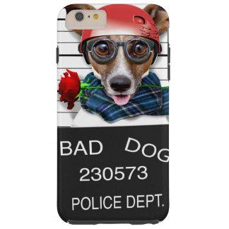 Capas iPhone 6 Plus Tough Jaque engraçado russell, cão do Mugshot