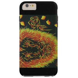 Capas iPhone 6 Plus Tough leão colorido brilhante com um rosa