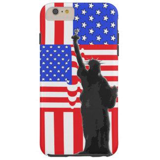 Capas iPhone 6 Plus Tough Liberdade patriótica de América da bandeira