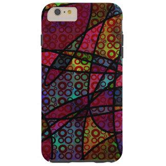 Capas iPhone 6 Plus Tough Linhas pretas corajosas & texturas coloridos,