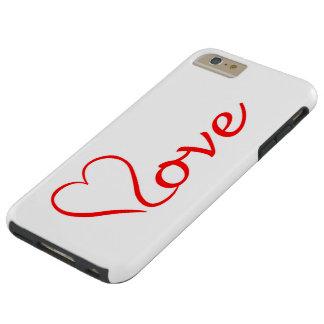 Capas iPhone 6 Plus Tough Love coração em pano de fundo branco