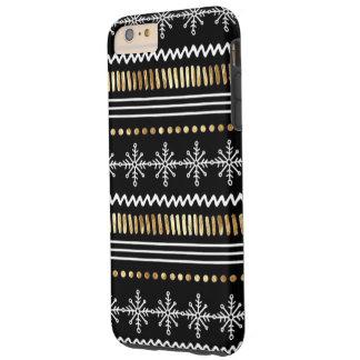 Capas iPhone 6 Plus Tough Mais-Natal-Floco de neve do iPhone 6/6s