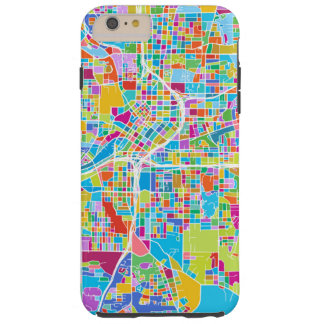 Capas iPhone 6 Plus Tough Mapa colorido de Atlanta