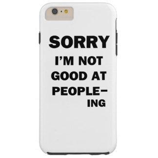 Capas iPhone 6 Plus Tough Nao bom em pessoas - Ing