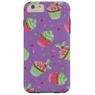 Capas iPhone 6 Plus Tough Natal bonito e doce cupcakes coloridos