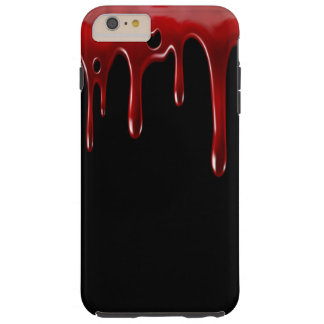 Capas iPhone 6 Plus Tough O sangue de Falln goteja o preto