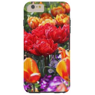 Capas iPhone 6 Plus Tough Ondas florais dos carmesins de Falln