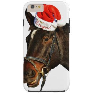 Capas iPhone 6 Plus Tough Papai noel do cavalo - cavalo do Natal - Feliz