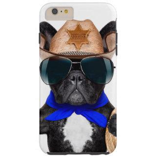 Capas iPhone 6 Plus Tough pug do vaqueiro - vaqueiro do cão