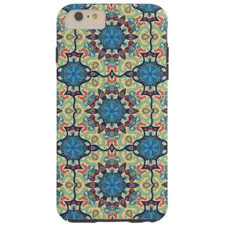 Capas iPhone 6 Plus Tough Teste padrão floral étnico abstrato colorido de da