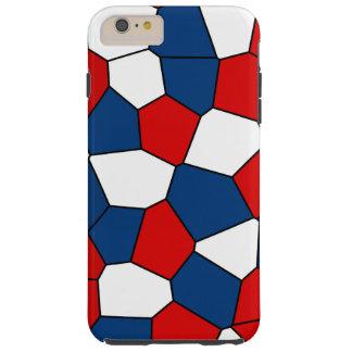 Capas iPhone 6 Plus Tough Teste padrão vermelho, branco e azul