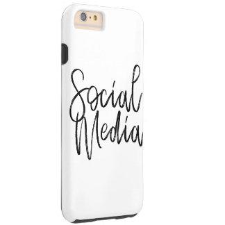 Capas iPhone 6 Plus Tough Tipografia social dos amantes dos meios