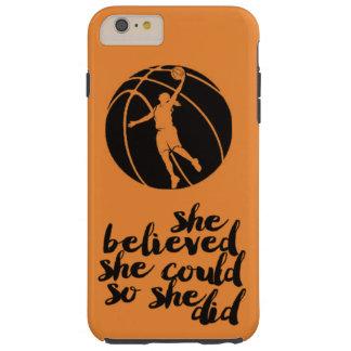 Capas iPhone 6 Plus Tough Treinador adolescente feminino da menina da bola