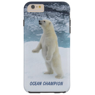 Capas iPhone 6 Plus Tough Urso polar ereto
