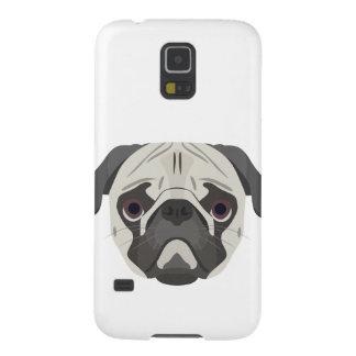 Capas Par Galaxy S5 A ilustração persegue o Pug da cara