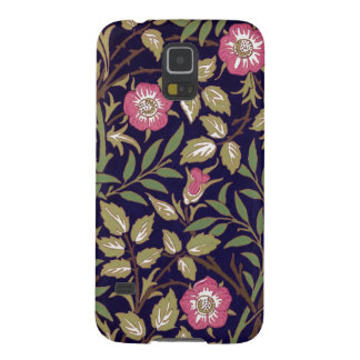 Capas Par Galaxy S5 Arte floral Nouveau do Briar doce de William