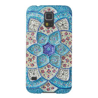 Capas Par Galaxy S5 Azul de turquesa marroquino tradicional, branco,