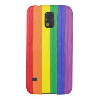 Capas Par Galaxy S5 Bandeira pintada do arco-íris