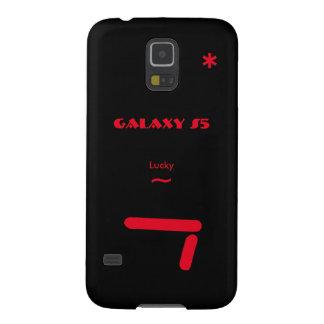 Capas Par Galaxy S5 Caixa preta da galáxia S5 de Samsung 7 afortunados