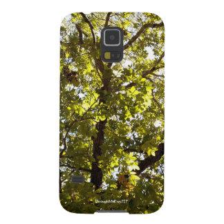 Capas Par Galaxy S5 Caixa verde da galáxia S5 da árvore da natureza