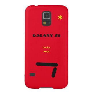 Capas Par Galaxy S5 Caso afortunado de 7 vermelhos de Samsung S5