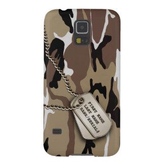 Capas Par Galaxy S5 Deserto militar Camo com Tag de cão