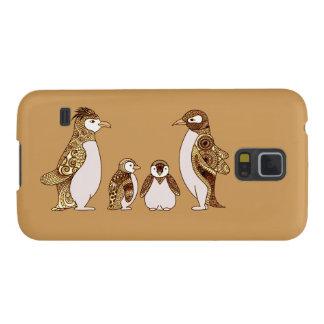 Capas Par Galaxy S5 Família dos pinguins
