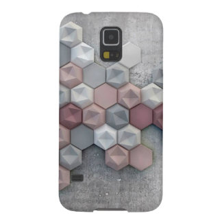 Capas Par Galaxy S5 Galáxia arquitectónica S5 de Samsung dos hexágonos