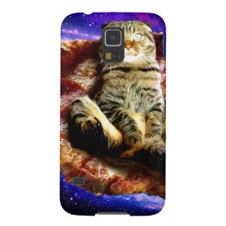 Capas Par Galaxy S5 gato da pizza - gato louco - gatos no espaço