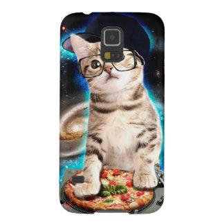 Capas Par Galaxy S5 gato do DJ - gato do espaço - pizza do gato -