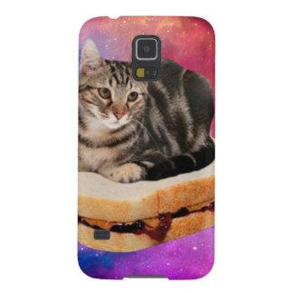Capas Par Galaxy S5 gato do pão - gato do espaço - gatos no espaço