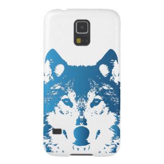 Capas Par Galaxy S5 Lobo do azul de gelo da ilustração
