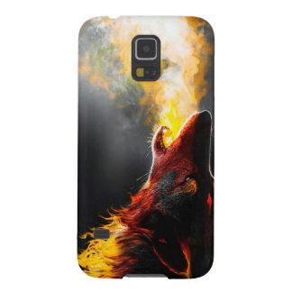 Capas Par Galaxy S5 Lobo do fogo