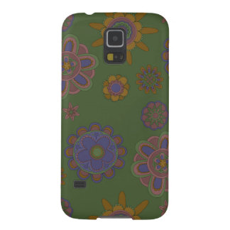 Capas Par Galaxy S5 Malva & flores do ouro