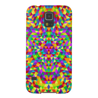 Capas Par Galaxy S5 Mandala feliz 2 do triângulo