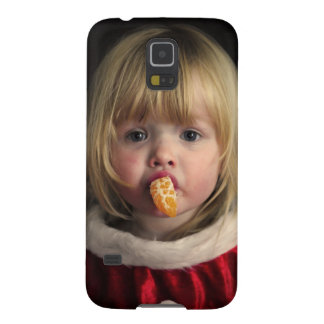 Capas Par Galaxy S5 Menina do Natal - criança do Natal - menina bonito