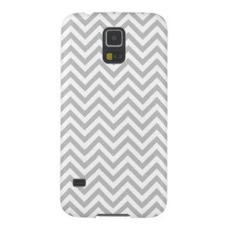 Capas Par Galaxy S5 O ziguezague cinzento e branco listra o teste