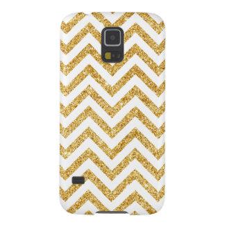 Capas Par Galaxy S5 O ziguezague do brilho do ouro branco listra o