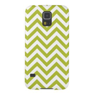 Capas Par Galaxy S5 O ziguezague verde e branco listra o teste padrão