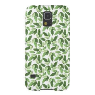 Capas Par Galaxy S5 Personalize o teste padrão verde da folha