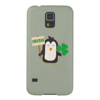 Capas Par Galaxy S5 Pinguim irlandês com trevo Zjib4