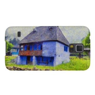 Capas Par Galaxy S5 Pintura de casa azul