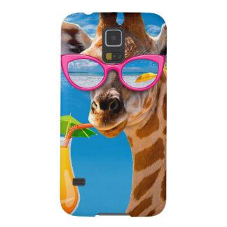Capas Par Galaxy S5 Praia do girafa - girafa engraçado