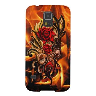 Capas Par Galaxy S5 rosa do dragão do amor
