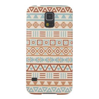 Capas Par Galaxy S5 Terracottas astecas do azul do creme do teste